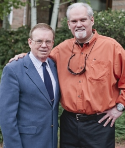 "Bestselling author Jerry B. Jenkins, shown here with PWR director Dr. Dennis E. Hensley, believes that the Taylor PWR program is ""#1 in America."""